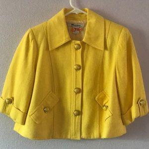 Bright lemon yellow vintage jacket